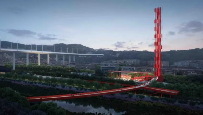 The Genoa Bridge Disaster Will be Memorialized with this Bright Red Skyway
