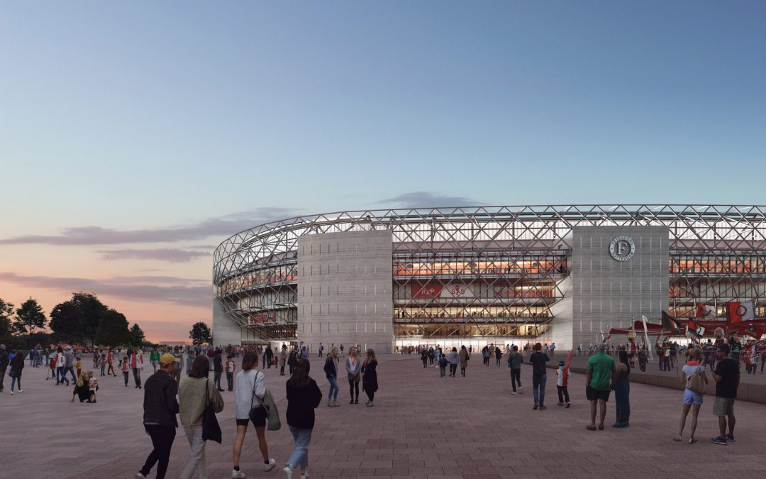 OMA and LOLA Unveil Images of the New Feyenoord Stadium in Rotterdam