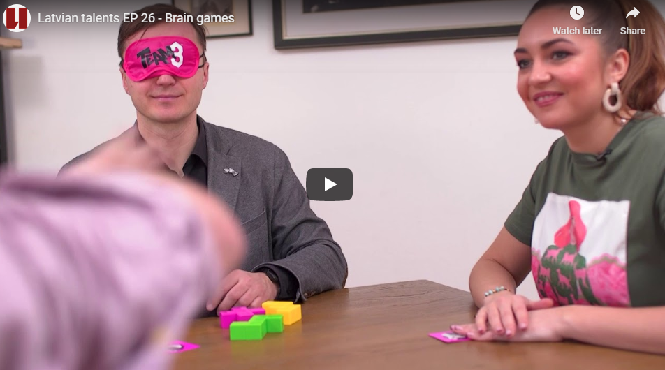 Video shows Latvia's talent for board games