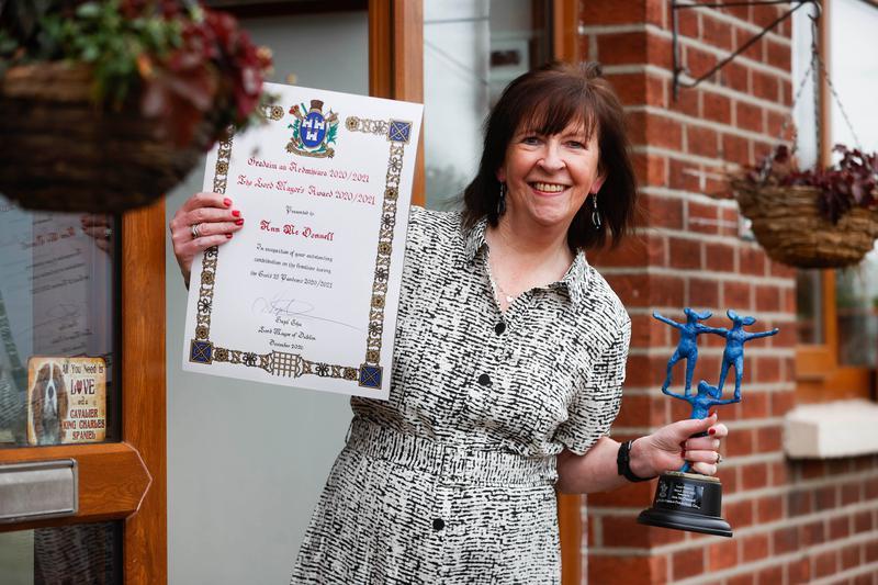 Ann McDonnell earns Lord Mayor award for mask fundraiser