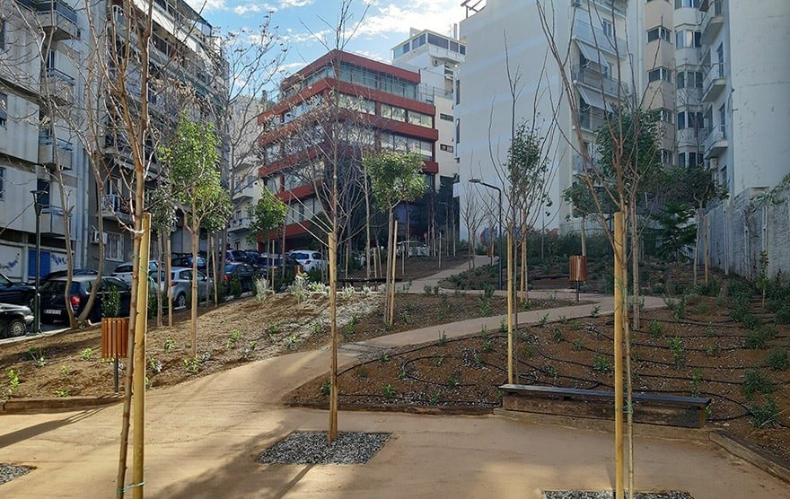 "Athens continues with ""pocket parks"" openings: the third one opened in Pangrati"