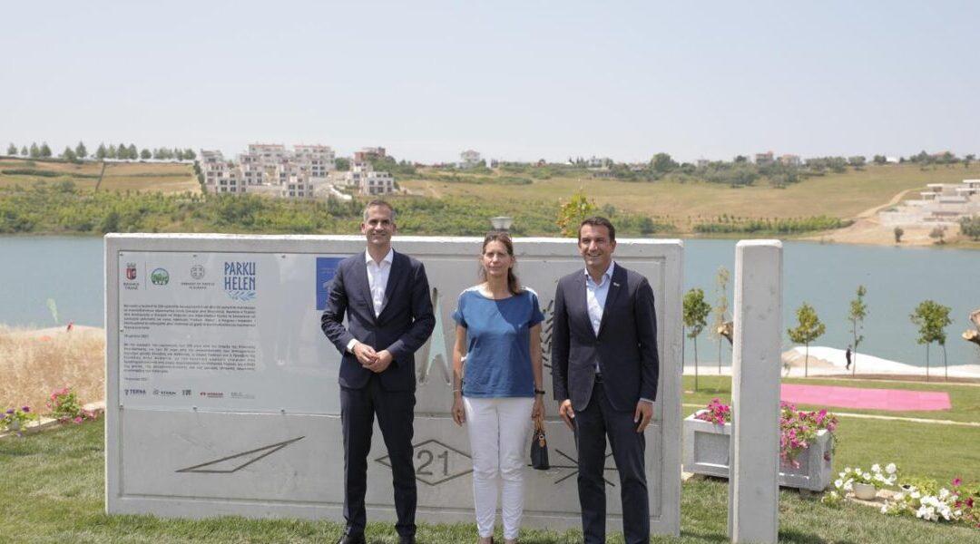 Greek park opened in Tirana in the presence of mayor Bakoyannis