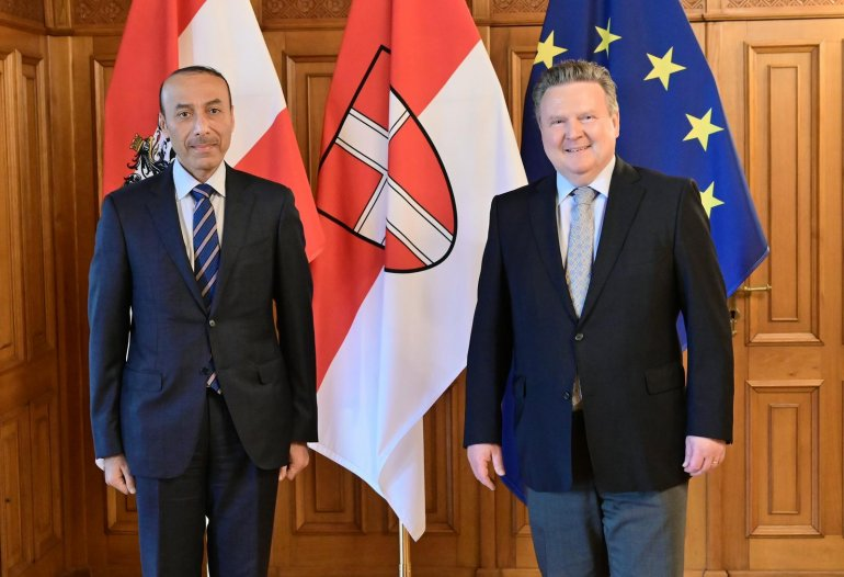 Mayor Ludwig wants to even more strengthen bilateral cooperation in various fields with Qatar