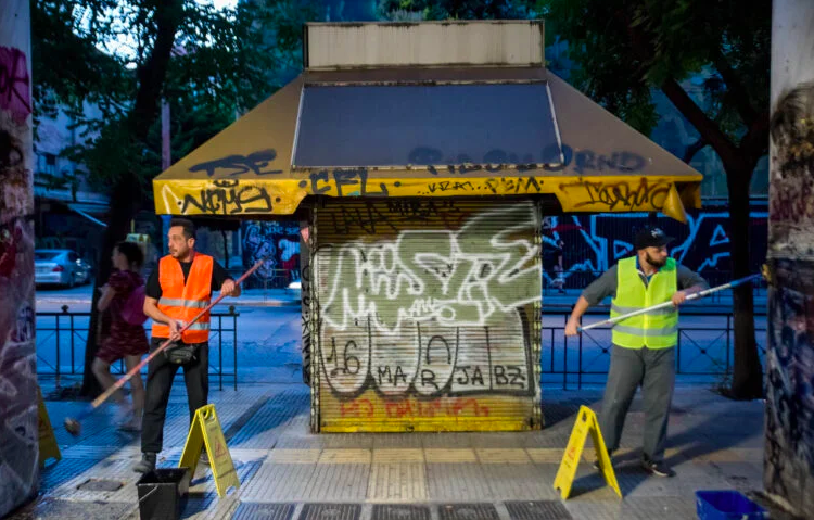 Athens is successfully fighting against graffiti pollution