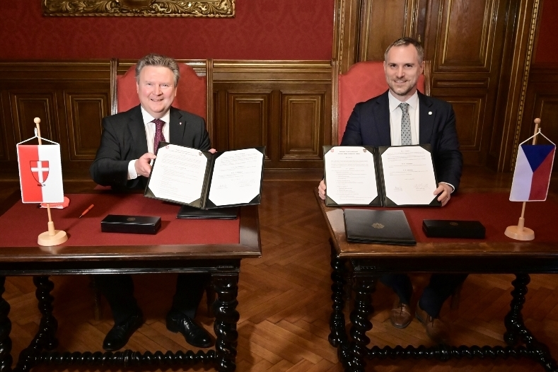 Mayors Ludwig and Hřib signed a cooperation agreement to exchange ideas on different fields